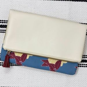 Rachel Pally Floral Vegan Leather Foldover Clutch